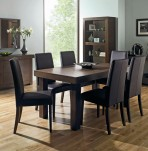 Akita Walnut Large Extending Dining Set