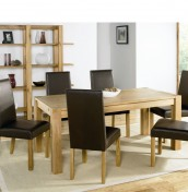Lyon Oak 150cm End Extending Dining Set