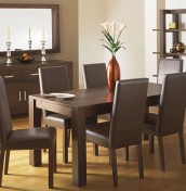 Lyon Walnut 180cm End Extending Dining Set