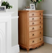Grace Solid Oak 6 Drawer Chest