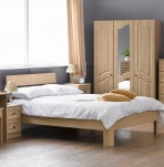 Bonne Oak Wooden Bed