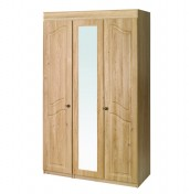 Bonne 3 Door Tall Oak Wardrobe