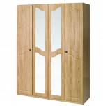 Bonne 4 Door Tall Oak Wardrobe