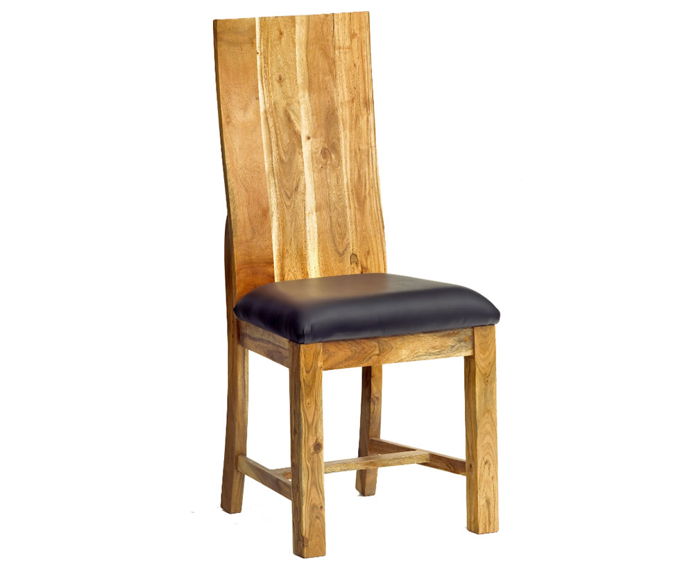 Palos Solid Oak Dining Chairs Set Of 2