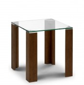 Mistral Walnut Glass Lamp Table