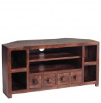 Agra Mango Wood Corner TV Unit