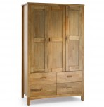 Eleanor Hevea Oak 3 Door Wardrobe