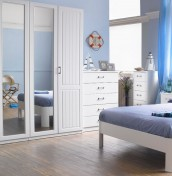 Century 4 Door Tall White Wardrobe