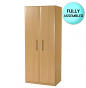 Wake 2 Door Beech Wardrobe