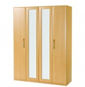 Wake 4 Door Tall Beech Wardrobe