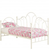 Frankee Cream Metal Day Bed