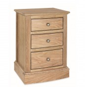 Harvard 3 Drawer Oak Bedside Chest