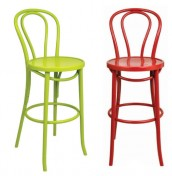 Salina Painted Bentwood Bar Stool