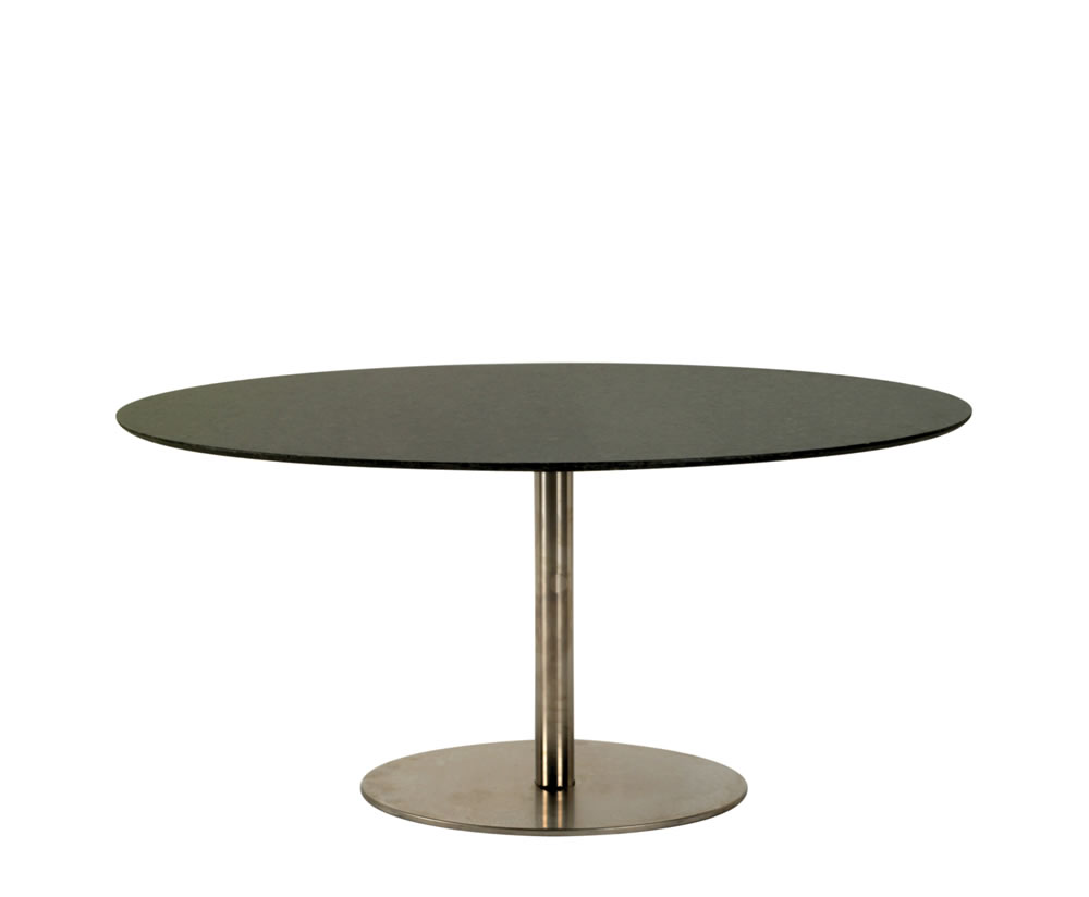 Lugo oval granite dining table for Granite dining table