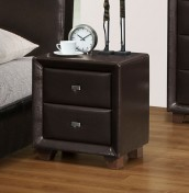 Jersey 2 Drawer Brown Bedside Chest