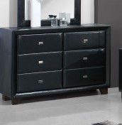 Jersey 6 Drawer Black Chest