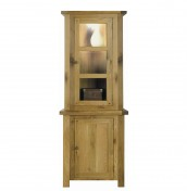 Alton Oak Corner Display Unit
