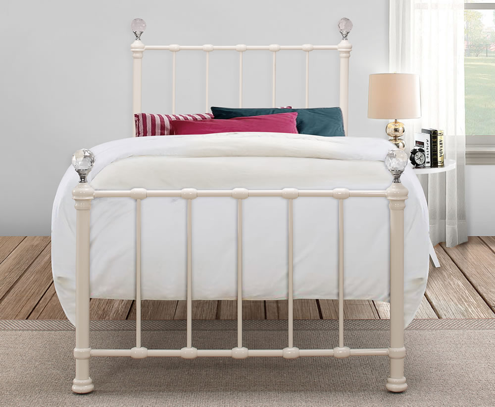 Jasmine Girls Cream Metal Bed