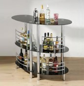 Curved Glass Drinks Bar Unit