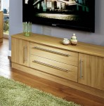 Siero Oak 2 Door 2 Drawer Wide TV Unit