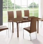 Stafford Glass Extending Dining Table and Chairs
