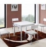 Bordeaux White High Gloss Folding Table