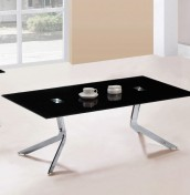 Prague Black Glass Coffee Table