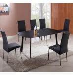 Lucca Black Glass Dining Table and Chairs