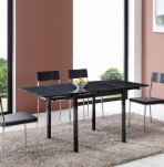 Salerno Charcoal Grey High Gloss Folding Table