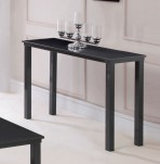 Salerno Charcoal Grey Glass Top Console Table
