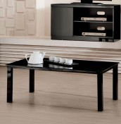 Tivoli Black Glass Top Coffee Table