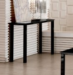 Tivoli Black Glass Top Console Table