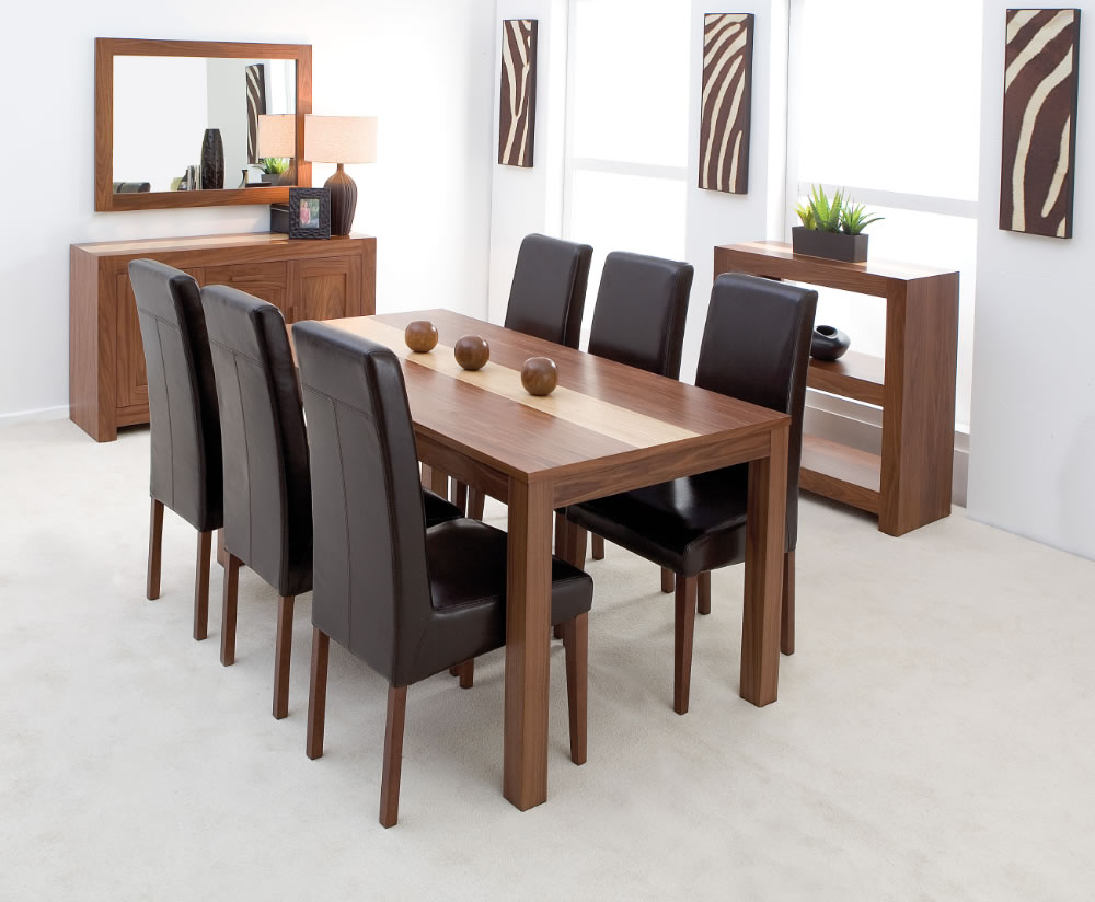 Denver walnut large dining table this large florence for Table 6 in denver