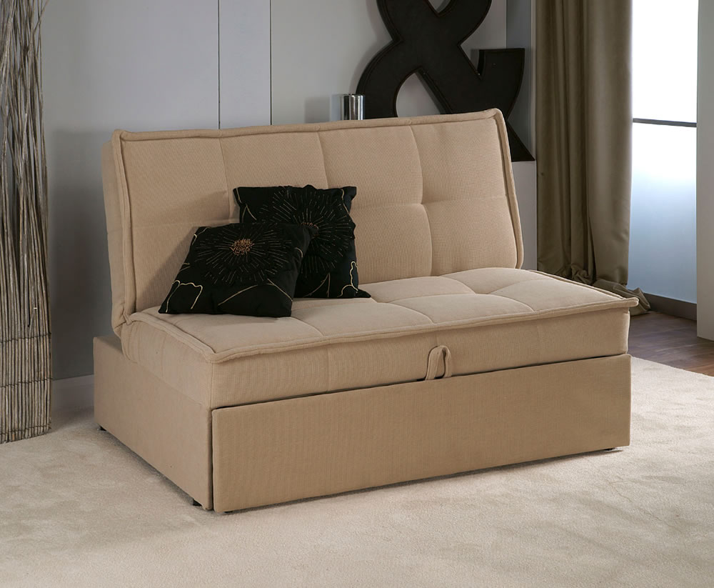 Triton Brown Upholstered Clic Clac Sofa Bed