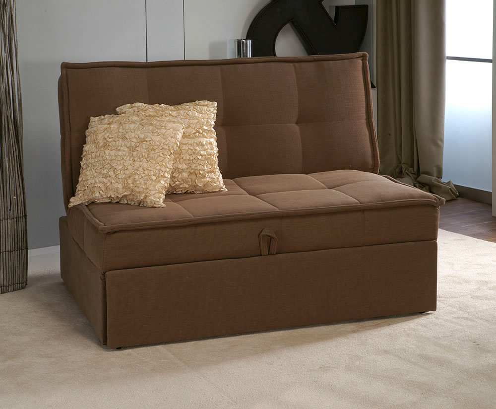 Santander beige pull out sofa bed Pull out loveseat sofa bed