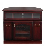 York Mahogany Corner Entertainment Cabinet