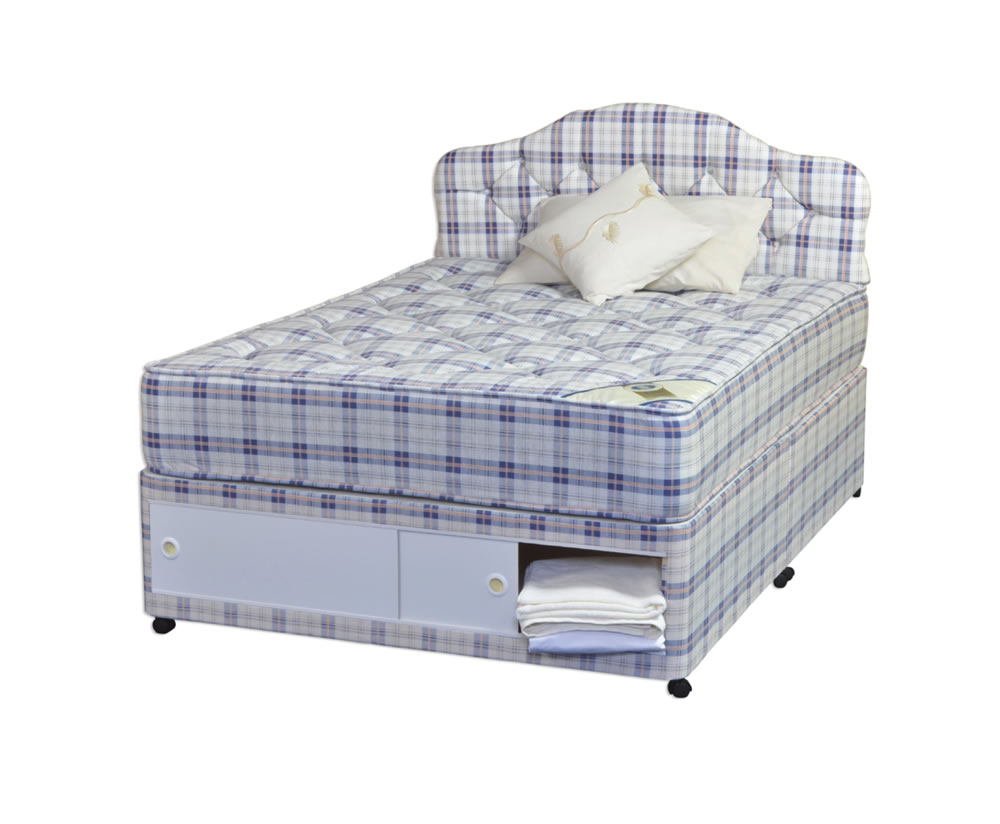 Rome Orthopaedic Divan Bed 3ft 4 Ft 4ft 6 5ft 6ft Varied Storage