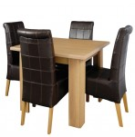 Nottingham Oak Small Dining Table and Chairs