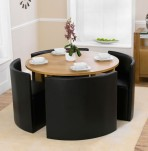 Darwin Oak Round Dining Table and Chairs