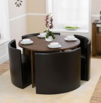 Darwin Walnut Round Dining Table and Chairs