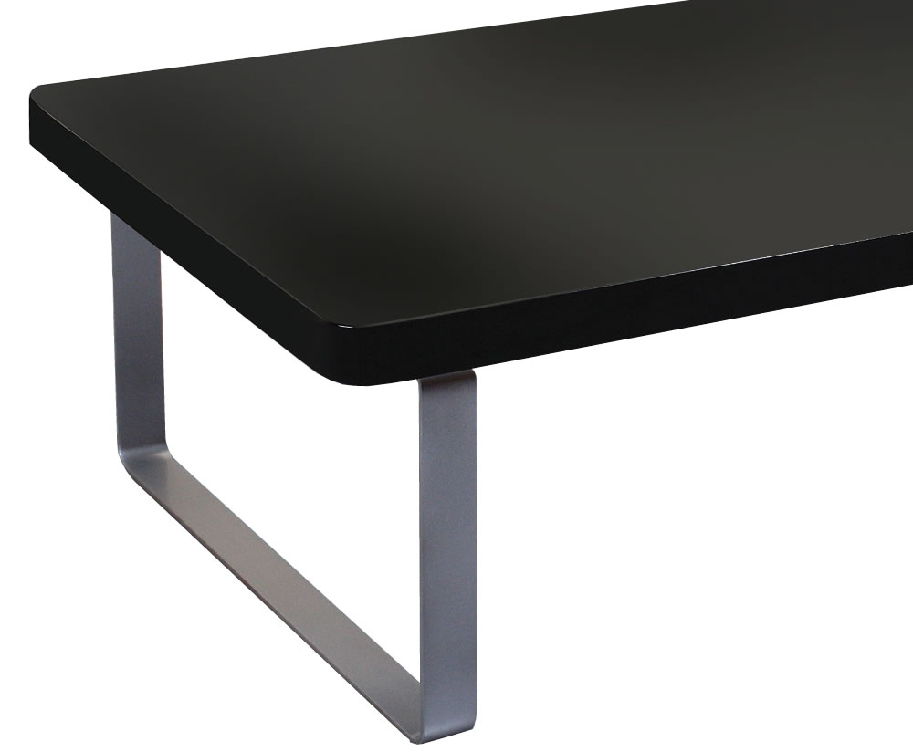 Mya Black High Gloss Coffee Table Metal Legs Uk Delivery
