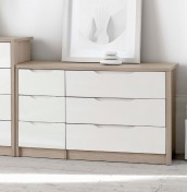 Affinity 6 Drawer High Gloss Wide Chest