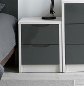 Affinity 2 Drawer High Gloss Bedside Chest