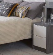 Affinity 2 Drawer High Gloss Bedside Chest With Back Panel