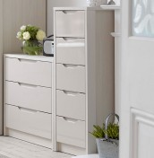Affinity 5 Drawer High Gloss Tallboy Chest