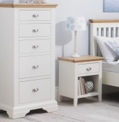 Hampstead Two-Tone 5 Drawer Tall Chest