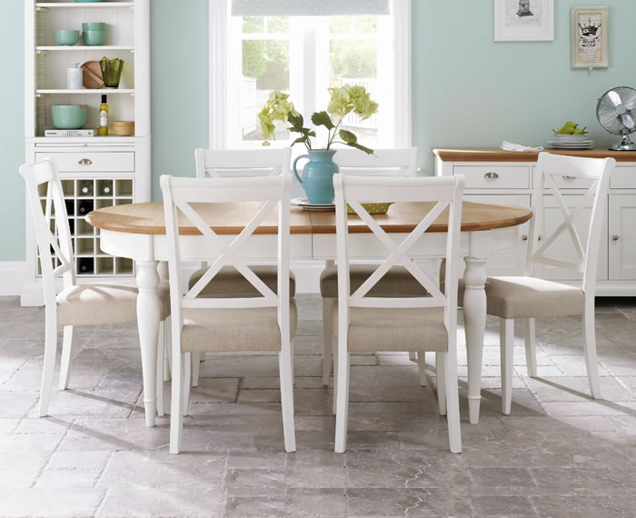 Hampstead Two Tone Extending Dining Table 6 8 Chairs Uk