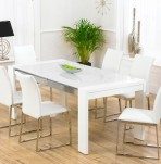 Newton White High Gloss Dining Set