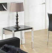 Theo Black High Gloss Lamp Table