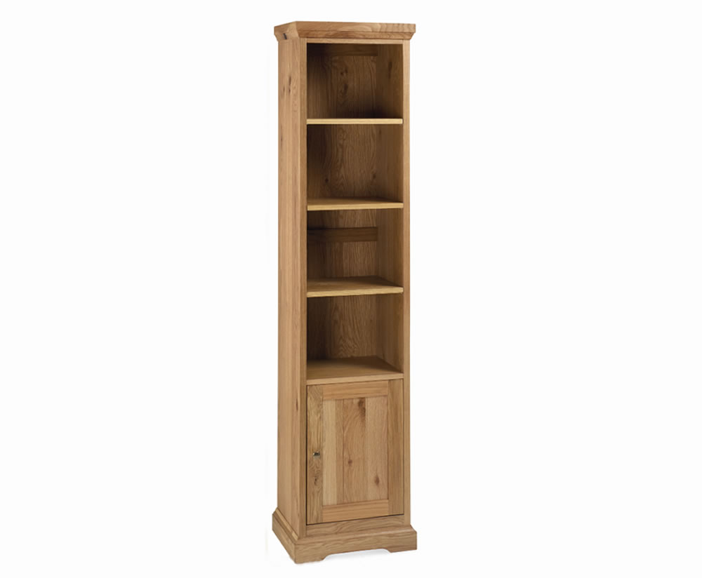 Provence Oak Narrow Bookcase with cupboard UK delivery : 55431 from franceshunt.co.uk size 1000 x 824 jpeg 33kB